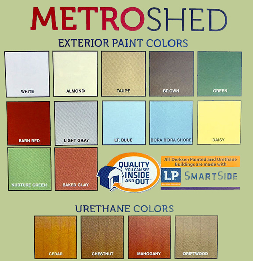 Metro Shed Colors
