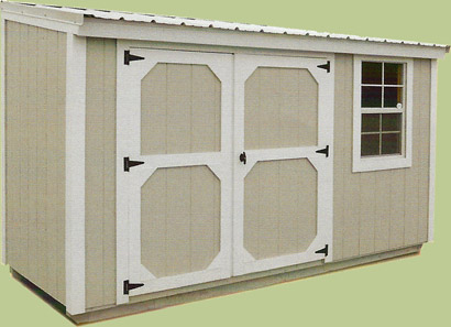 Metro Shed with double doors and optional window